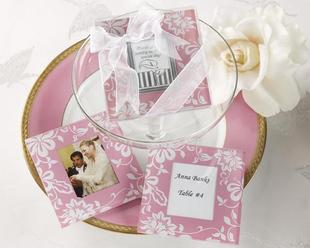 Timeless Tradition Glass Photo Coasters(Pink)(2pcs/set)
