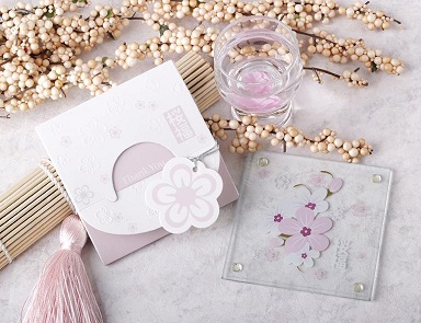 Good Blessing Cherry Blossom Glass Coaster (1pcs/set)