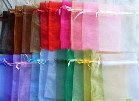 Single Color Sheer Organza Bag (Multiple sizes)