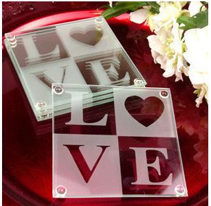 Classical Love Coaster Set Favors (2pcs/set)